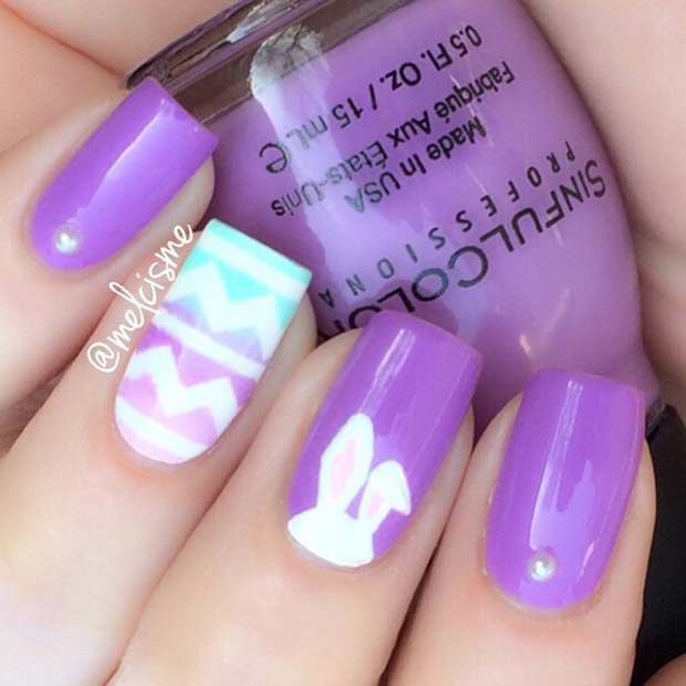 Easy Easter Nail Art: 10 Easy And Simple Easter Nail Art Designs