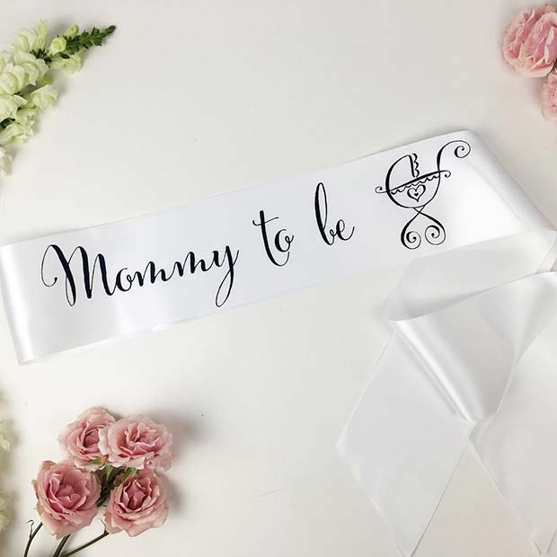 Mommy To Be Sash for Girls Baby Shower