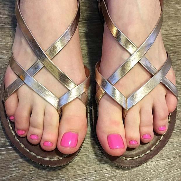 Simple Pink Pedicure