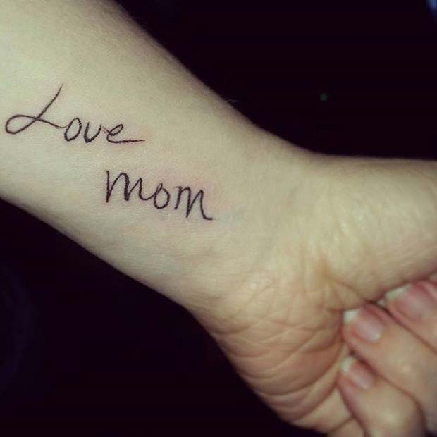 Memorial Tattoo Idea for Mom
