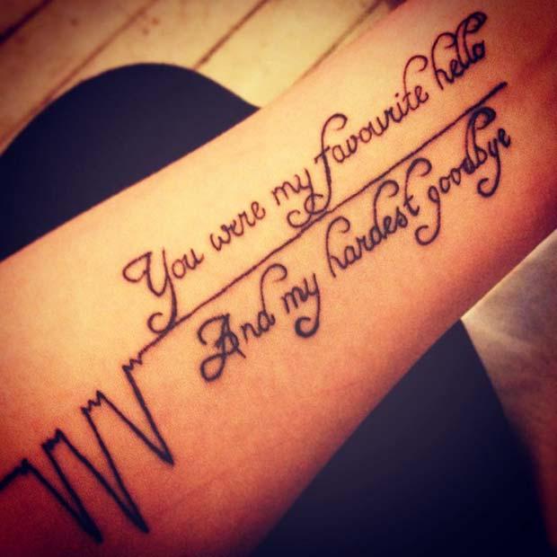 23 Emotional Memorial Tattoos to Honor Loved Ones - crazyforus