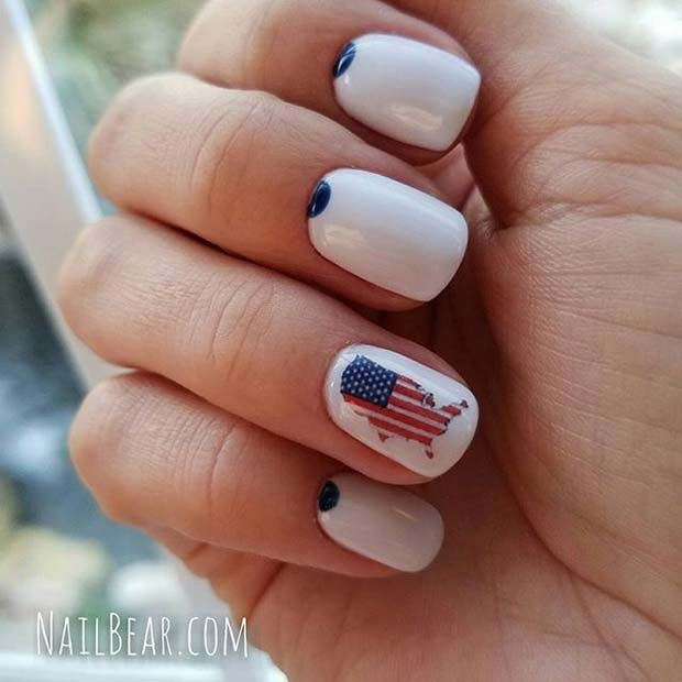 10 funky and fun 4th of july nail designs crazyforus 10 funky and fun 4th of july nail designs prinsesfo Image collections