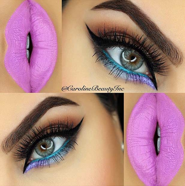 Vibrant and Colorful Summer Eye Makeup Look