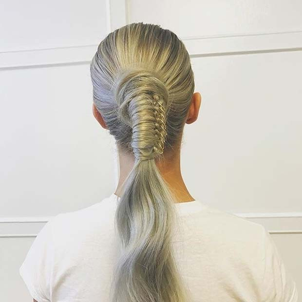 Stylish Ponytail with Hair Rings