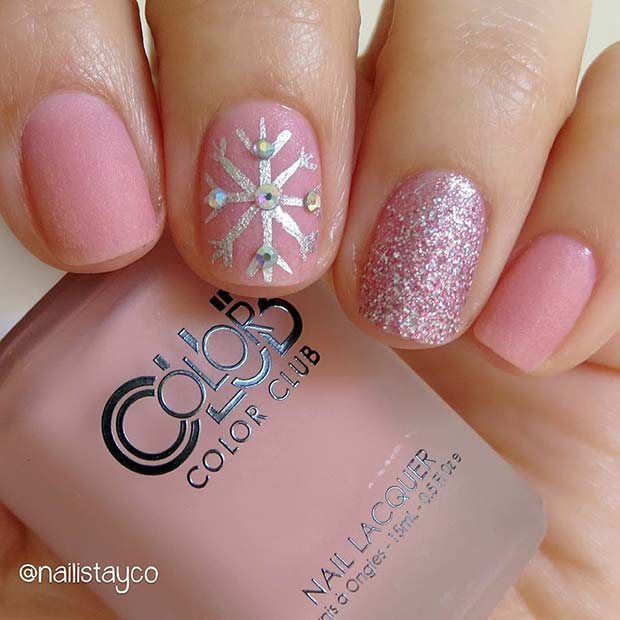 23 latest winter inspired nail art ideas crazyforus 23 latest winter inspired nail art ideas prinsesfo Image collections