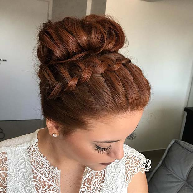 Beautiful French Braid and Bun