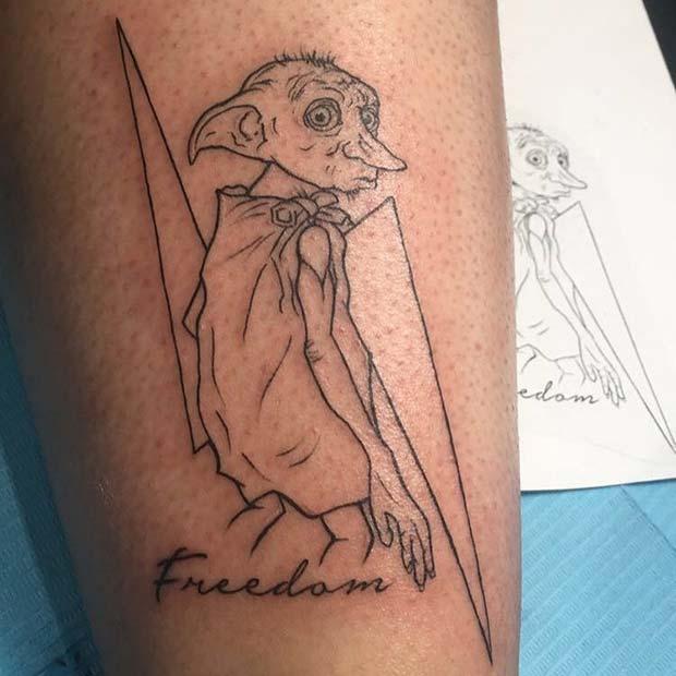 Dobby the House Elf Tattoo