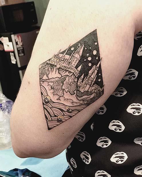 Hogwarts Castle Tattoo Idea