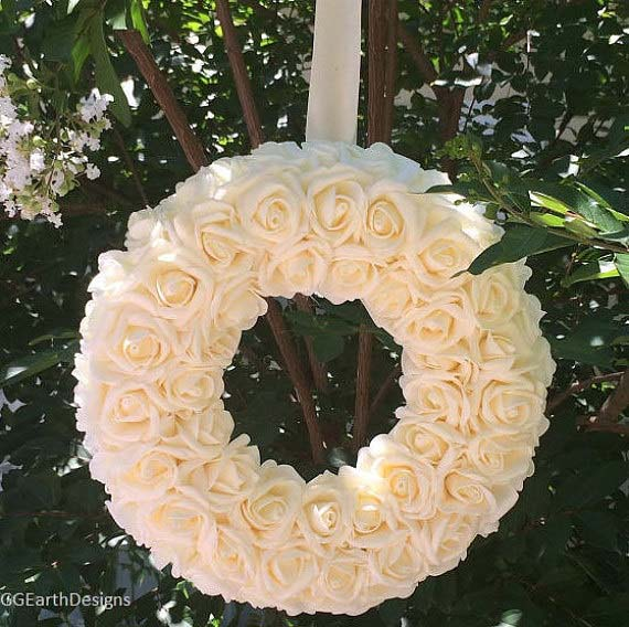 Beautiful Floral Wreath for Bridal Shower