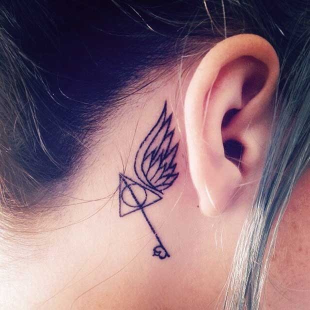 Harry Potter Behind the Ear Tattoo