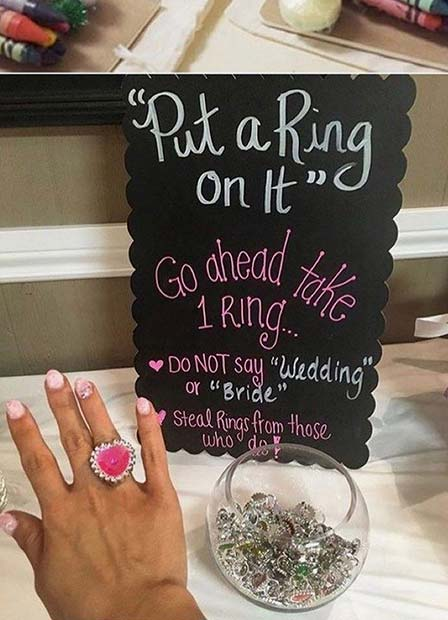 Put a Ring On It Bridal Shower Game