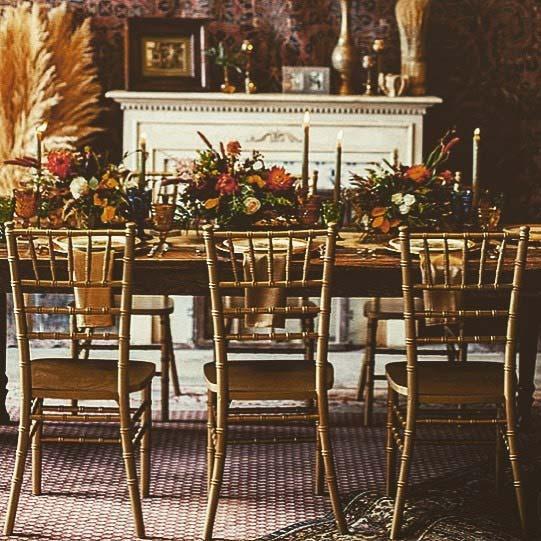 Vintage Wedding Reception Table Idea