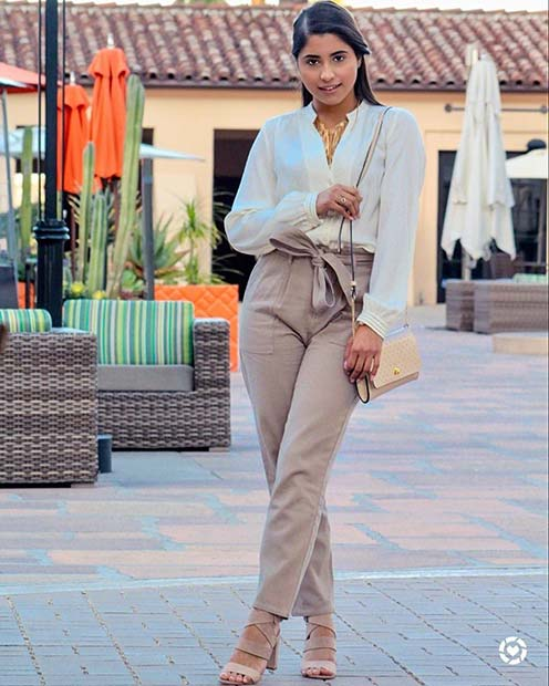 Chic Summer Work Outfit Idea
