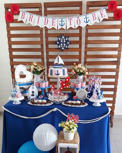 fun nautical bridal shower idea