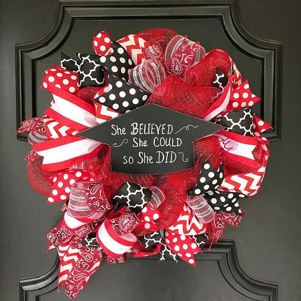 Graduation Wreath Idea