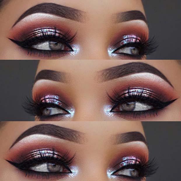 Metallic Smokey Eye Makeup Look