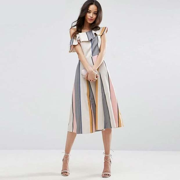 Ruffle Dress Work Outfit Idea