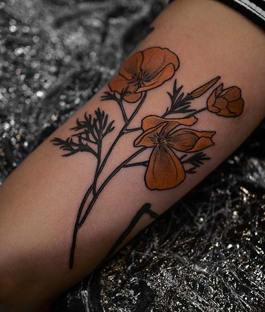 088139b5f 21 Trendy Poppy Tattoo Ideas for Women - crazyforus
