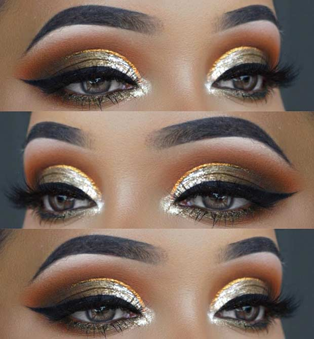 Trendy Metallic Eye Makeup for Summer