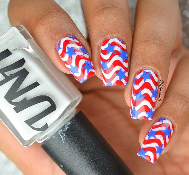 Unique and Creative 4th of July Nails