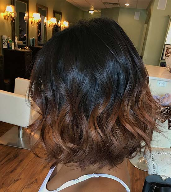 Ombre Highlights for Dark Brown Hair