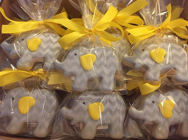 Cute Elephant Cookies - Baby Shower Favors