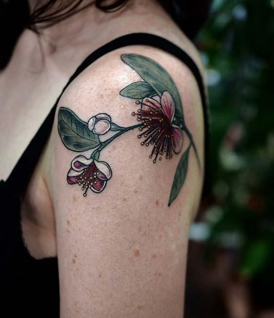 Feijoa Flower Tattoo Idea