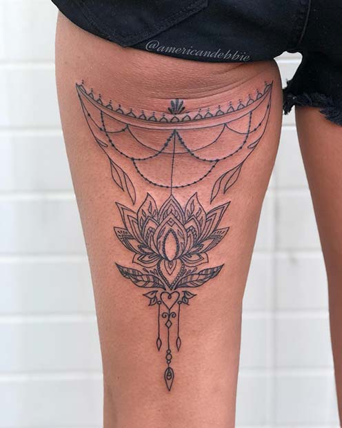 Back Of Thigh Tattoo Ideas For Women Crazyforus