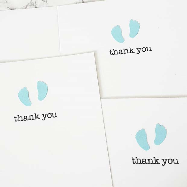 Baby Shower DIY Thank You Cards