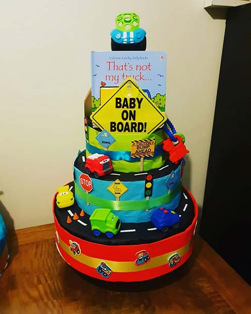 Diaper Cake and a Book