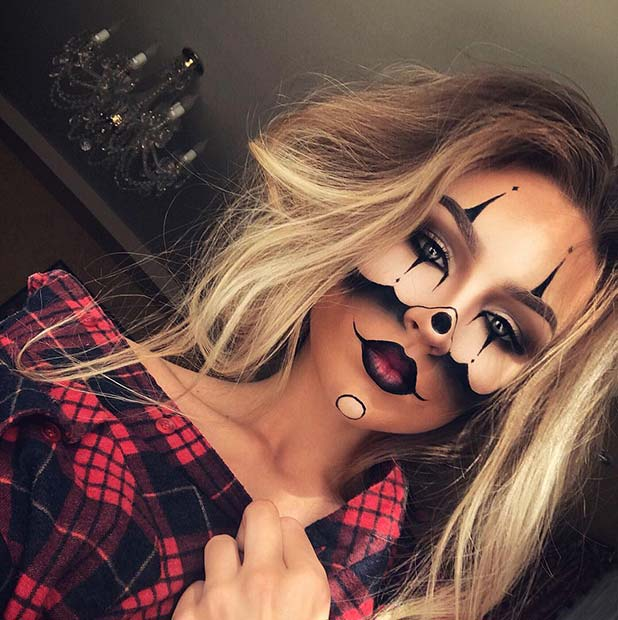 Gangster Clown Halloween Makeup Idea