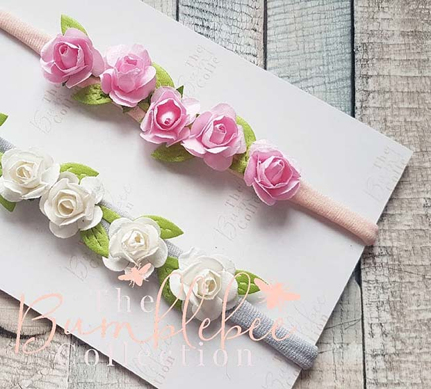 Pretty Floral Headbands for a Baby Girl