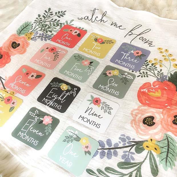 Watch Me Bloom Blanket - Baby Shower Gift