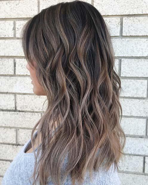 Ash Brown Winter Hair Color Idea