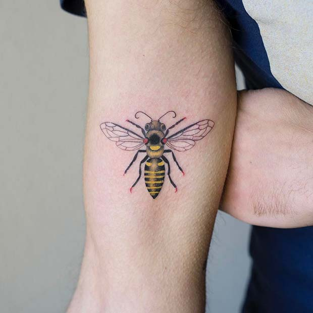 Bold Bee Tattoo Idea