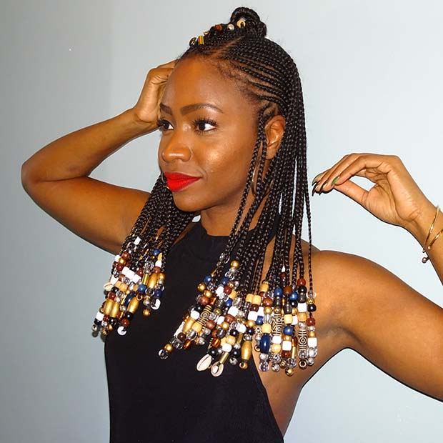 Tribal Braids with Beads