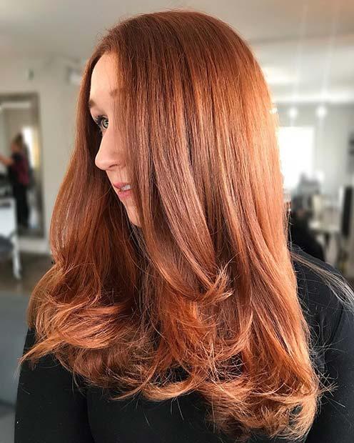Copper Hair - Winter Hair Color Idea