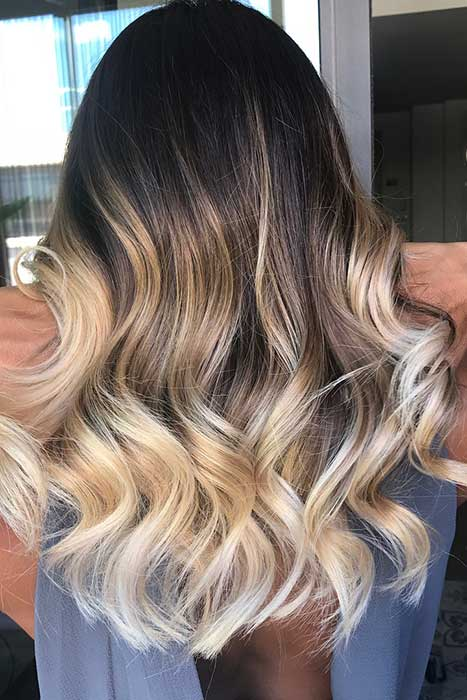Dark to Blonde Ombre Hair Color