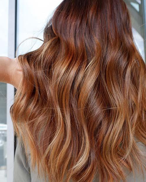 Fiery Strawberry Blonde Hair