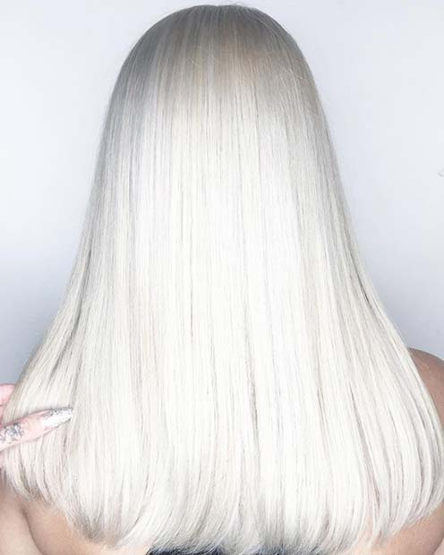 Icy Blonde Hair for Winter