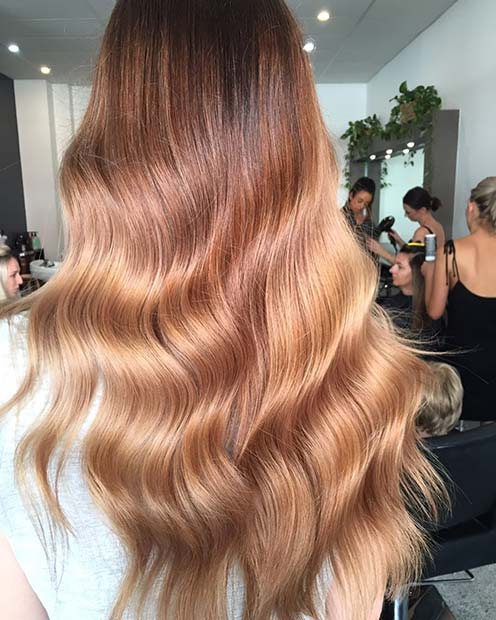 Soft Strawberry Blonde Balayage