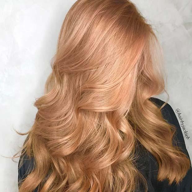 Soft Strawberry Blonde Hair