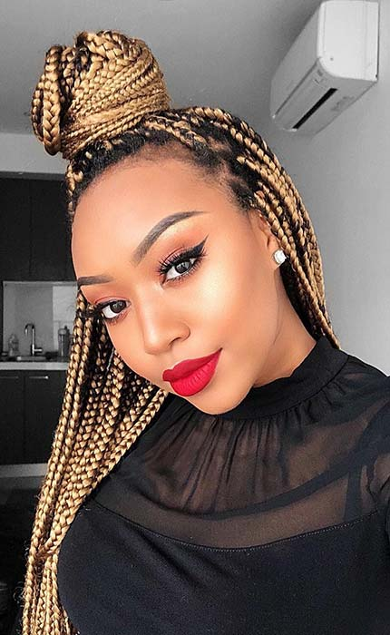 Small Blonde Crochet Box Braids
