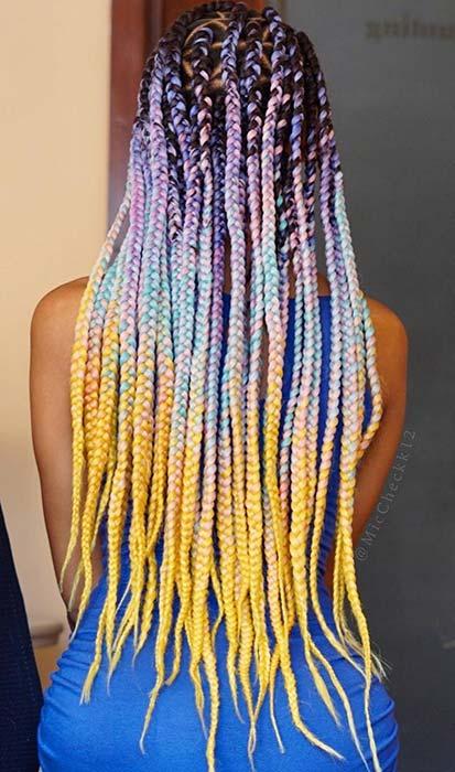Multicolor Triangle Part Braids