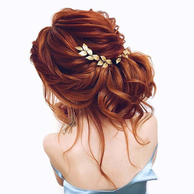 Braided Boho Updo for Brides
