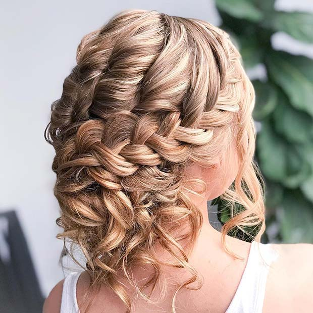 Pretty Braided Wedding Updo