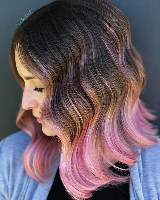 Cute Pink Ombre Bob