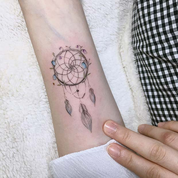 Dream Catcher Tattoo For Girls
