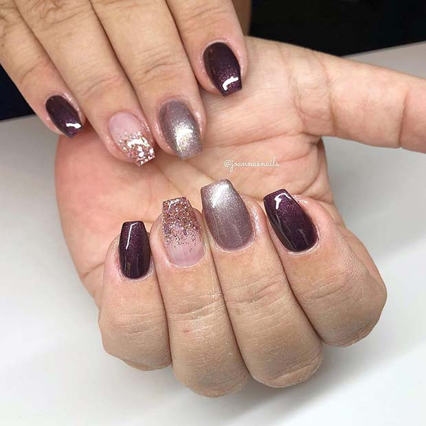 Short Coffin Nails for Fall