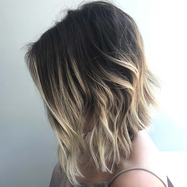 Light Blonde Ombre Idea for Short Hair